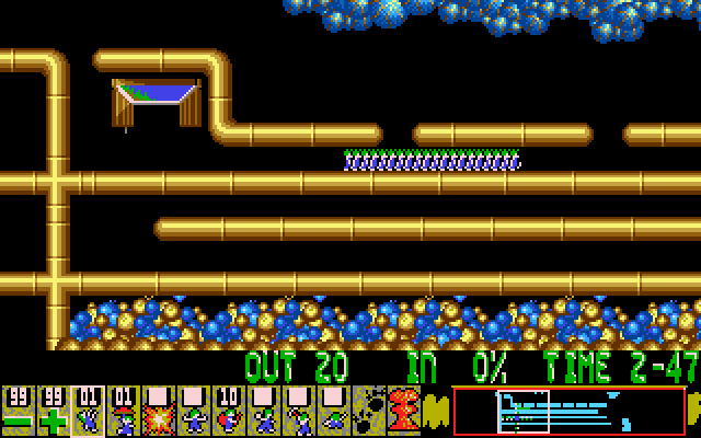 Oh No! More Lemmings DOS Crazy - Level 4