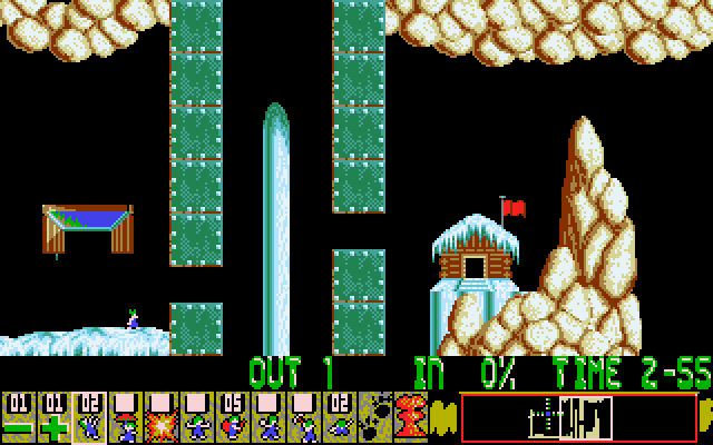 Oh No! More Lemmings DOS Crazy - Level 6