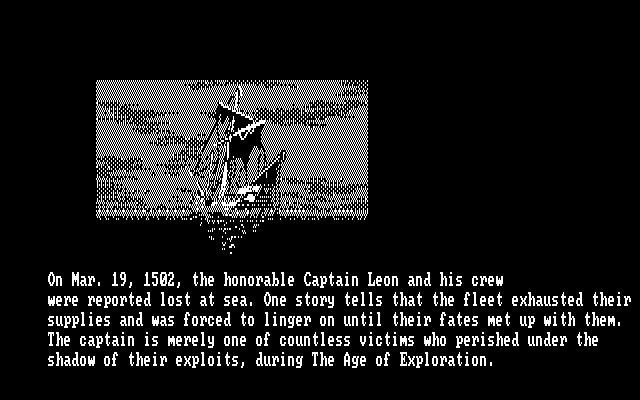 Uncharted Waters DOS Starvation on the high seas (CGA)