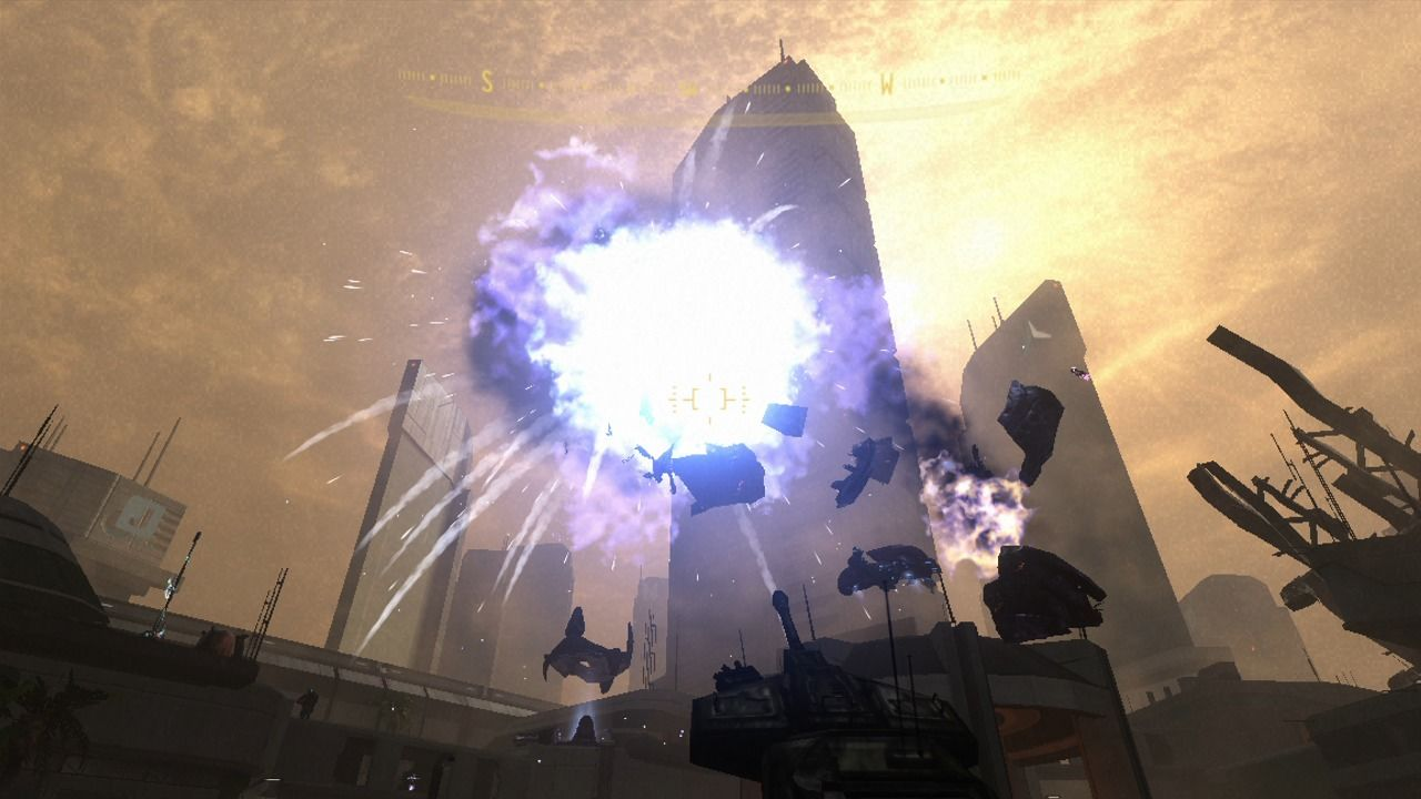 Halo 3: ODST Xbox 360 Scorpion tank can take out enemy dropships with just a couple precise shots.
