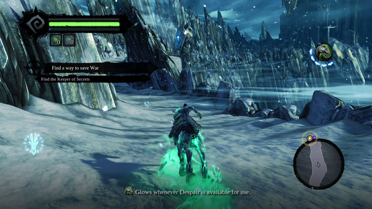 Darksiders II PlayStation 3 The player can use the horse right from the beginning.