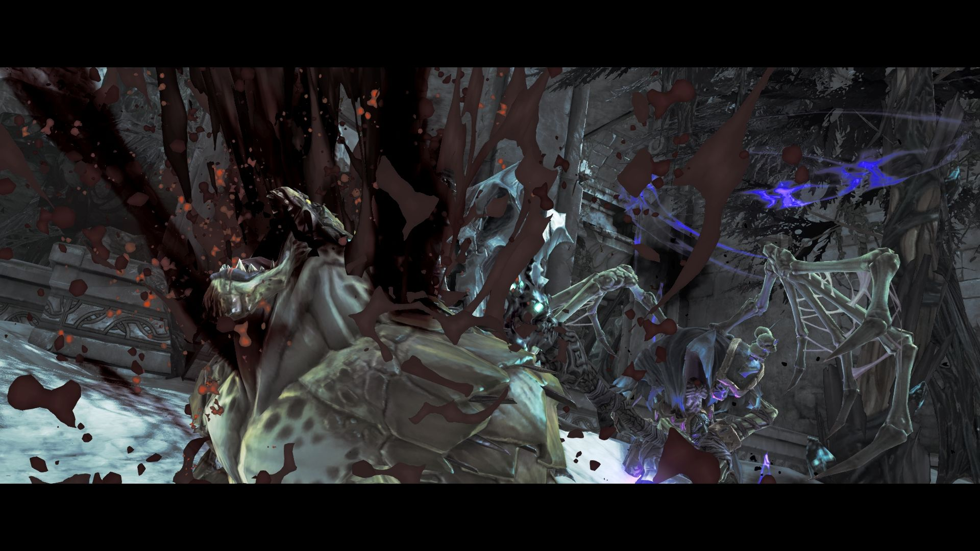 Darksiders II Windows Monster finishing in Death's true form.