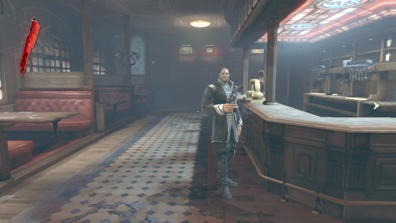 Dishonored Windows In this bar you can hang with your new friends and receive quests in the early portion of the game