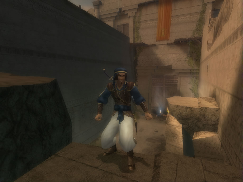 Prince of Persia: The Sands of Time Windows The prince poses for a mobygames screenshot.