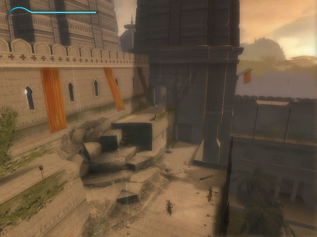 Prince of Persia: The Sands of Time Windows The landscape camera can be used to get a general overview of the environment.