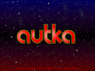 Autka DOS Title screen