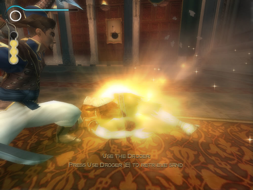 Prince of Persia: The Sands of Time Windows Use your dagger to retrieve parts of the sands of time.