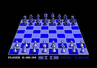 Cyrus II Chess Amstrad CPC The starting screen