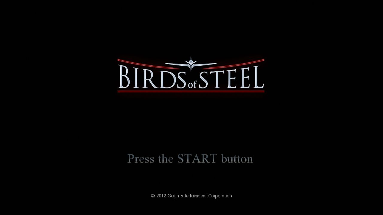 Birds of Steel PlayStation 3 Title screen