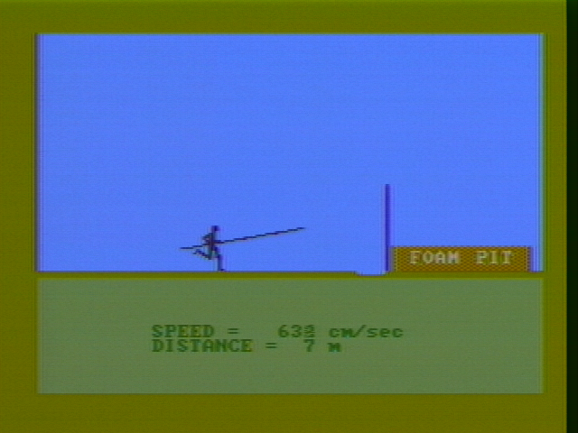 Microsoft Decathlon PC Booter The pole vault (CGA with composite monitor)