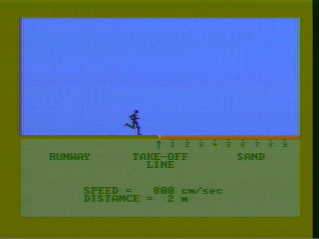 Microsoft Decathlon PC Booter The long jump (CGA with composite monitor)