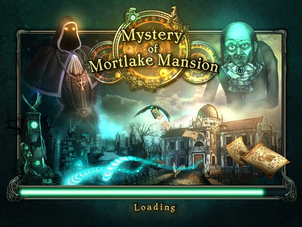 Mystery of Mortlake Mansion Macintosh Title / Loading