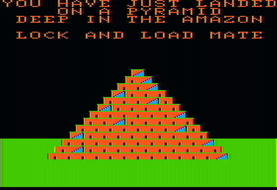 Lost Tomb Apple II Lock and load, mate