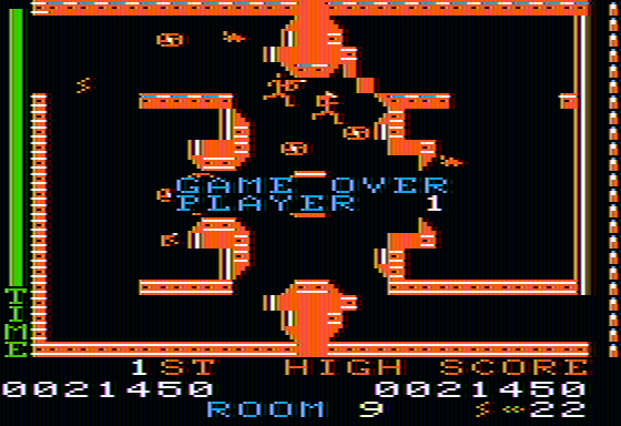 Lost Tomb Apple II Game over... almost cleaned out the place.