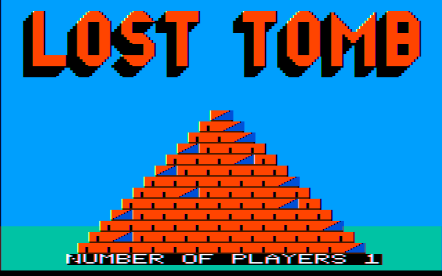 Lost Tomb PC Booter Title screen (CGA w/ composite monitor)