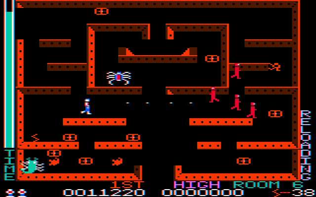 Lost Tomb PC Booter These red guys weren't acting too friendly (CGA w/ composite monitor)