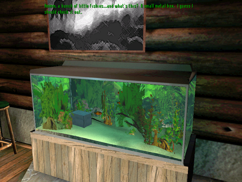 Tex Murphy: Overseer Windows Fish tank.