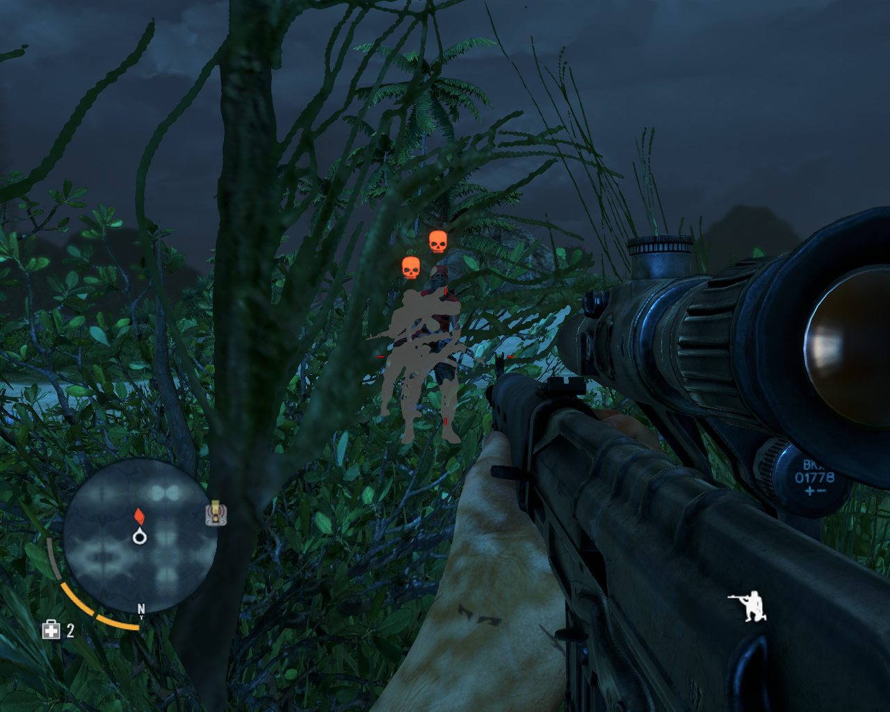 Far Cry 3 Windows Hiding in vegetation is an important element of stealth