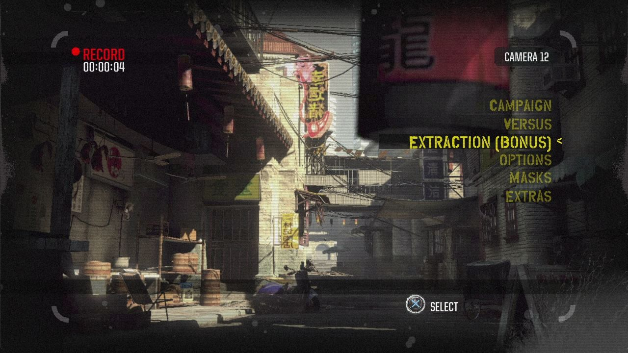 Army of Two: The 40th Day PlayStation 3 Main menu.