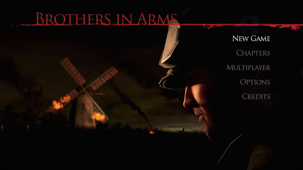 Brothers in Arms: Hell's Highway PlayStation 3 Main menu