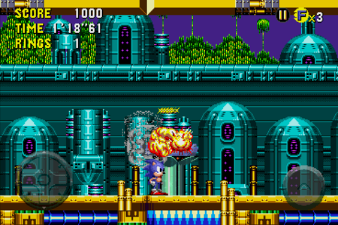 Sonic CD Android Destroying the container of Eggan's stolen seedlings