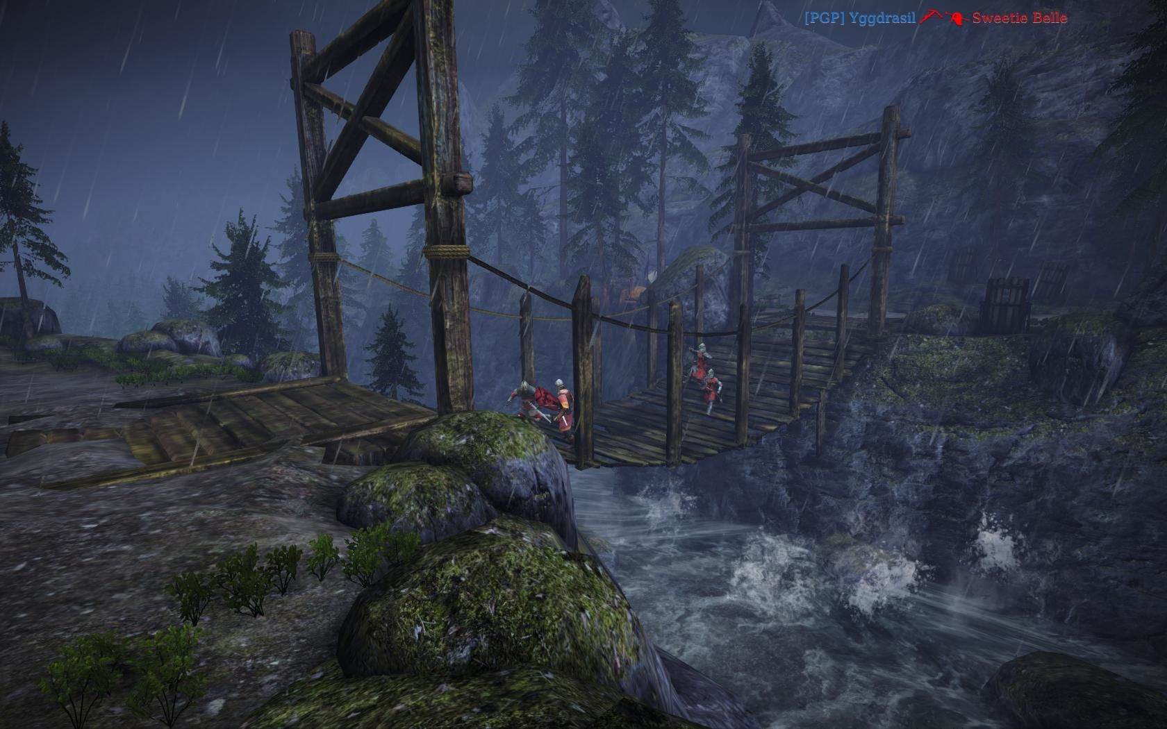 Chivalry: Medieval Warfare Windows The bridge (Dark Forest map)