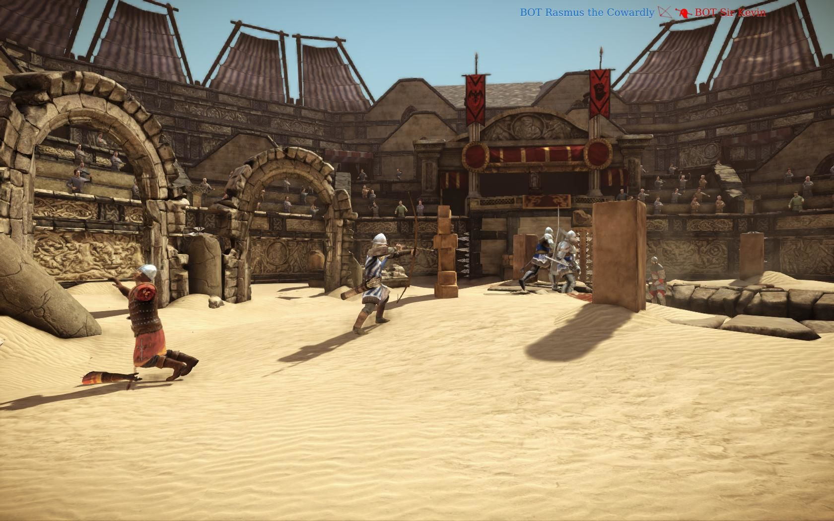 Chivalry: Medieval Warfare Windows Arena map with bots