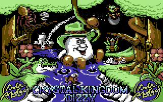 Crystal Kingdom Dizzy Commodore 64 Title screen