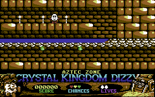 Crystal Kingdom Dizzy Commodore 64 Look out for the spear traps.