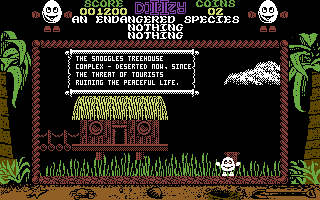 Treasure Island Dizzy Commodore 64 Reading a scroll.