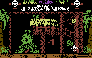 Treasure Island Dizzy Commodore 64 Up in the trees.