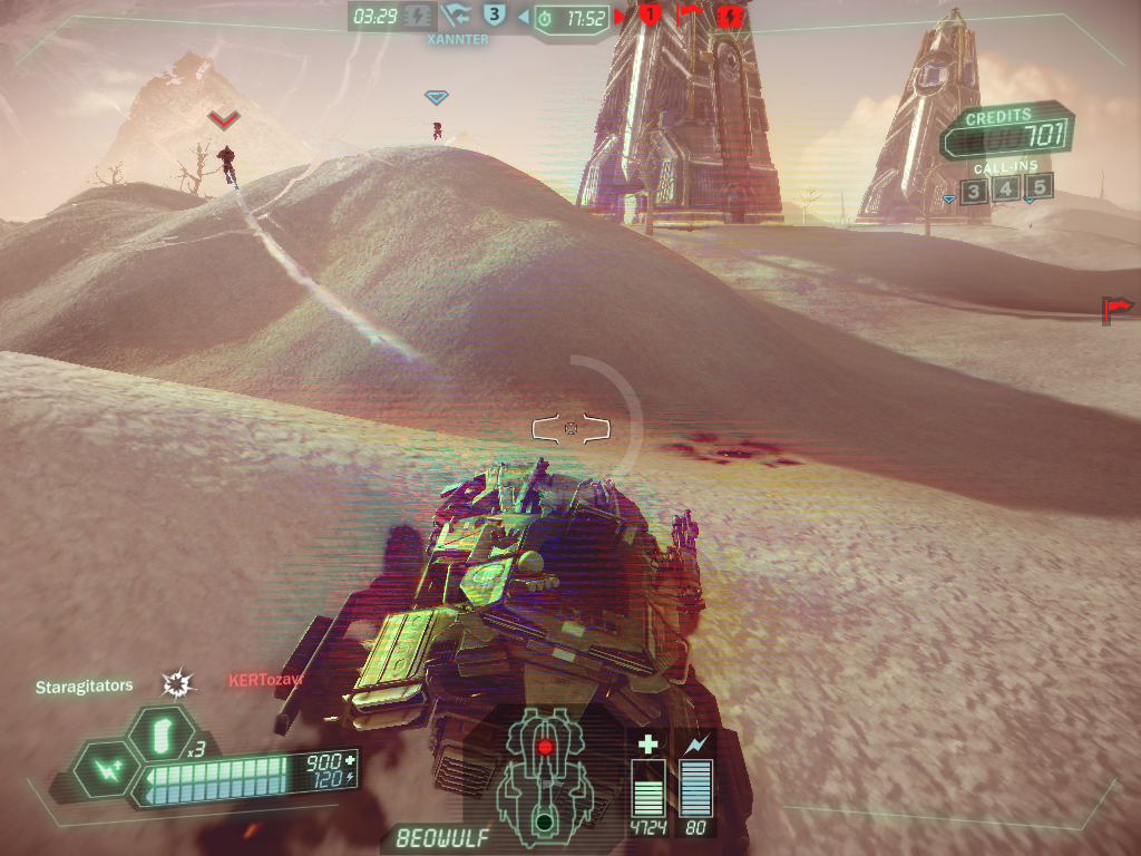 Tribes: Ascend Windows Driving the Beowulf - a slow but powerful vehicle