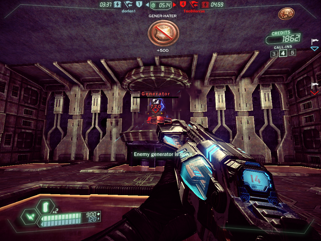 Tribes: Ascend Windows Destroying the enemy generator