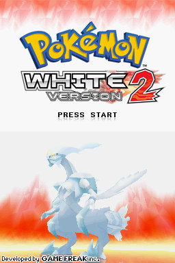 Pokémon: White Version 2 Nintendo DS Title screen
