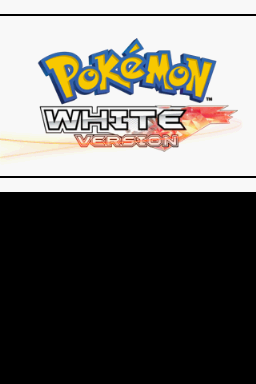 Pokémon White Version 2 Nintendo DS Intro screen