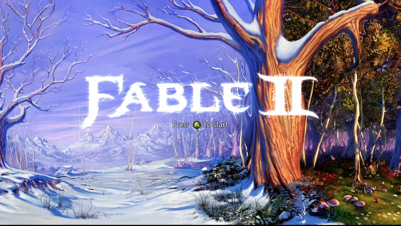 Fable II Xbox 360 Main title.