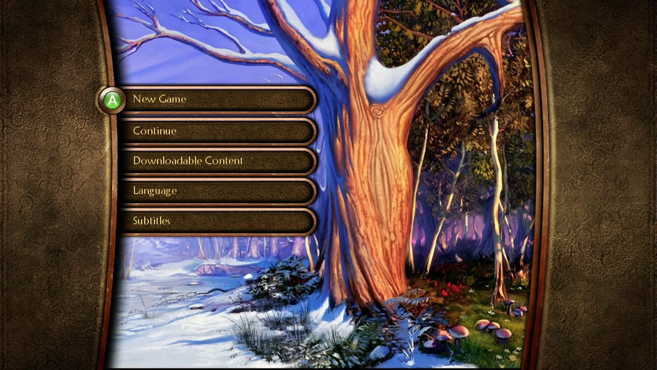 Fable II Xbox 360 Main menu.