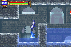 Castlevania: Aria of Sorrow Game Boy Advance Water jumping?