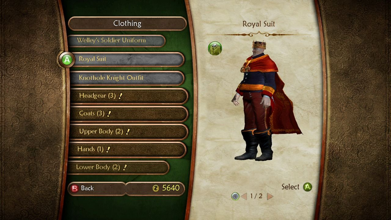 Fable II Xbox 360 If you eat too much, you will grow fat, but you'll still be able to wear any outfit.