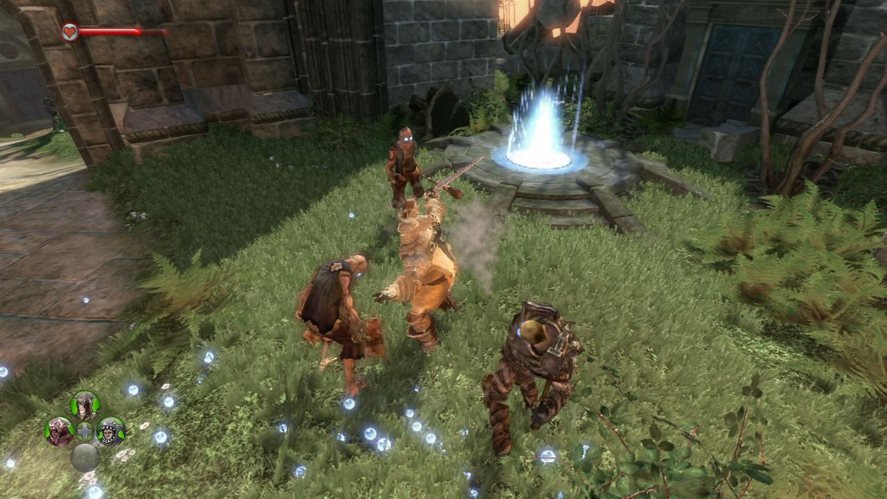 Fable II: See the Future Xbox 360 Fighting the undead.