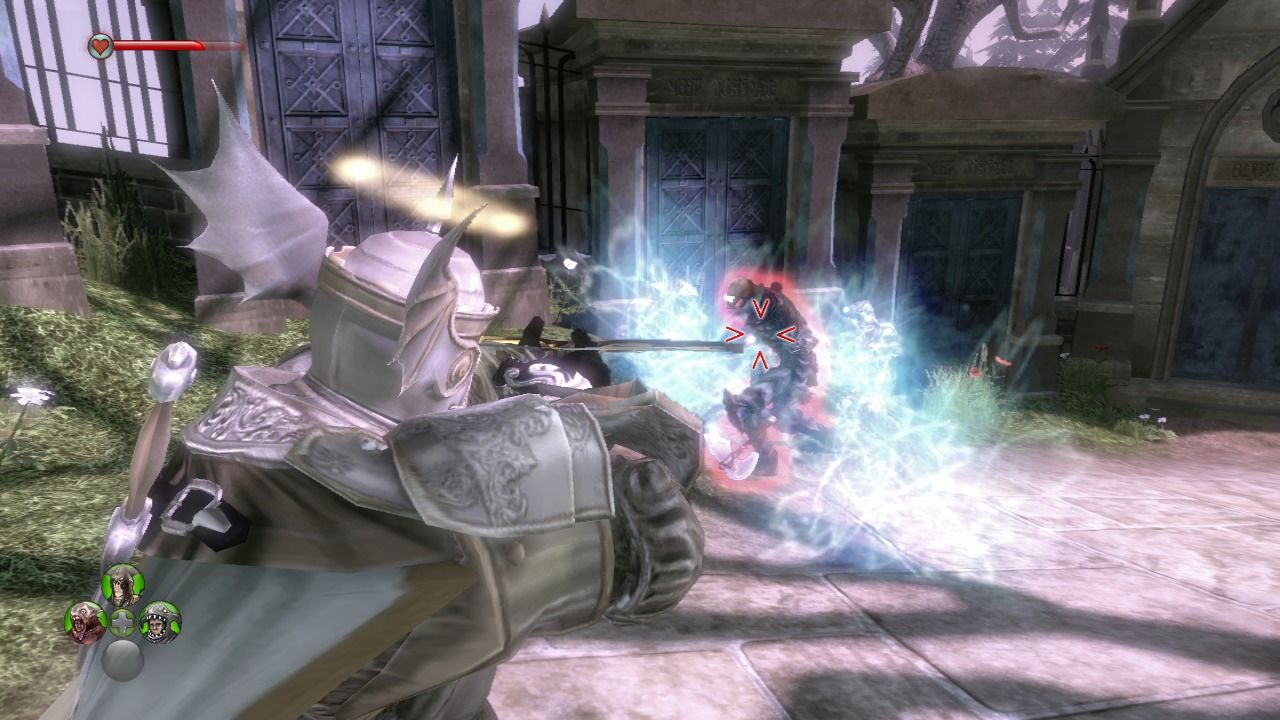 Fable II: See the Future Xbox 360 Using bow and arrow while your ghost warriors are occupying the undead enemy.