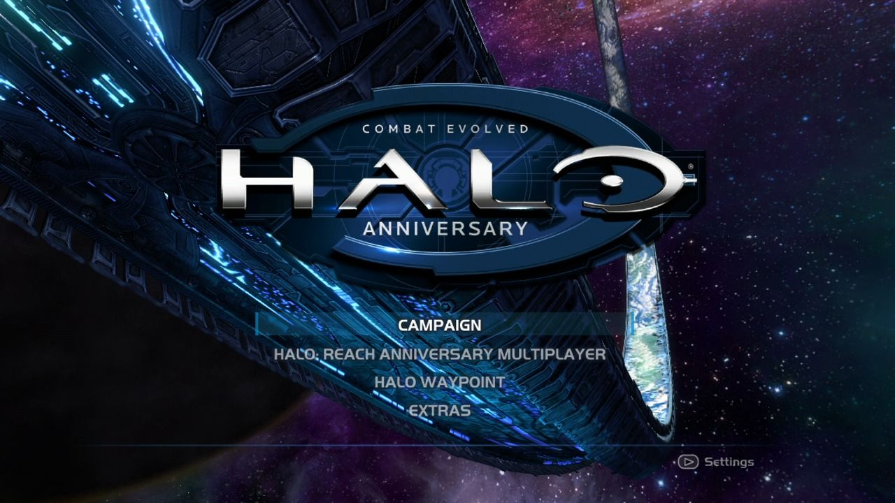 Halo: Combat Evolved Anniversary Xbox 360 Main menu (remake).