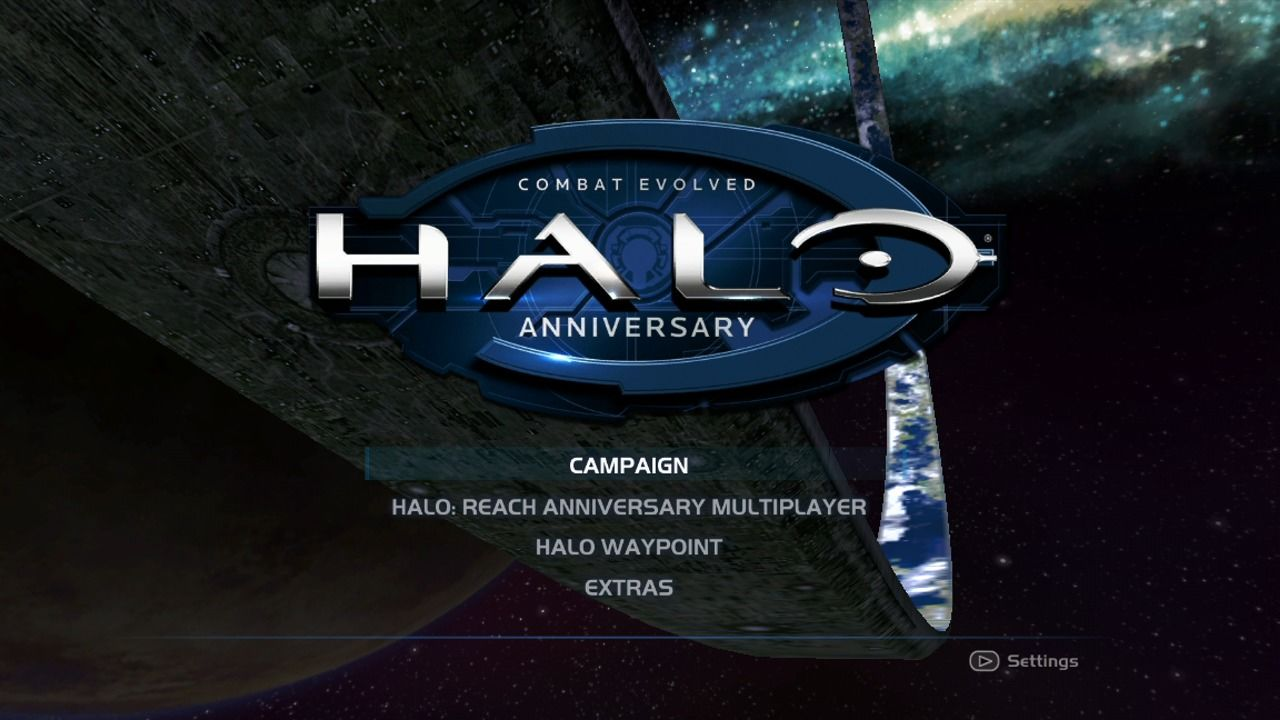 Halo: Combat Evolved Anniversary Xbox 360 Main menu (original).