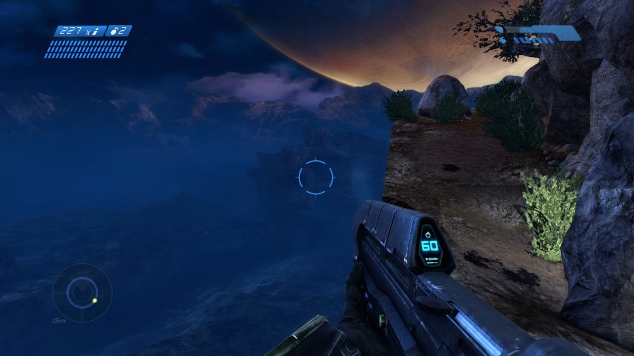 Halo: Combat Evolved Anniversary Xbox 360 Watch your steps traversing the cliff (remake).