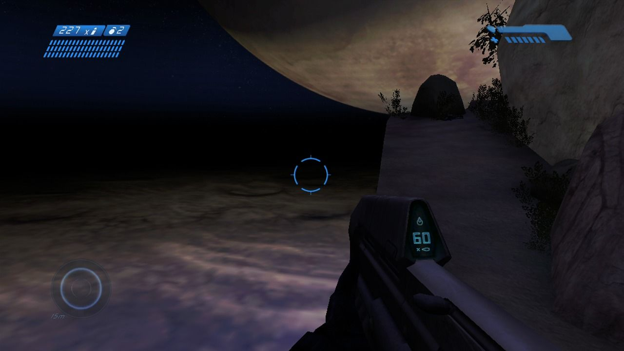 Halo: Combat Evolved Anniversary Xbox 360 Watch your steps traversing the cliff (original).