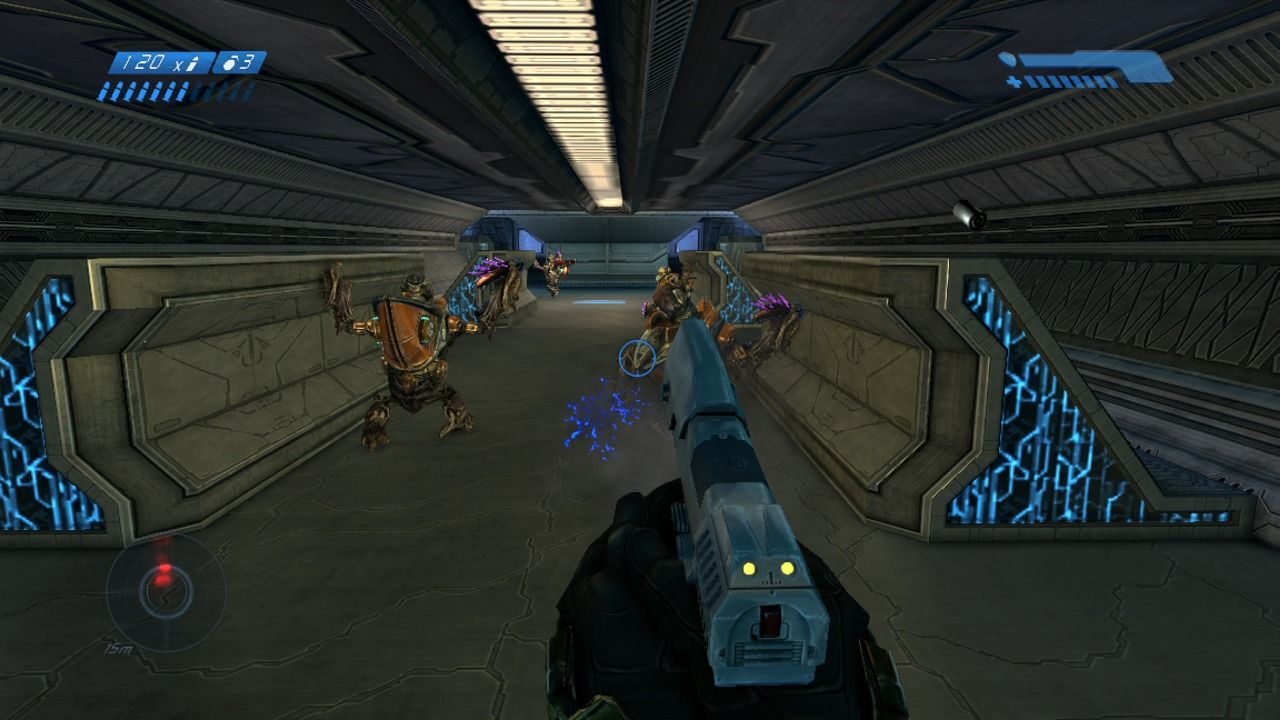 Halo: Combat Evolved - Anniversary Xbox 360 Regular pistol may not fire bursts but is just as deadly as a machine gun.