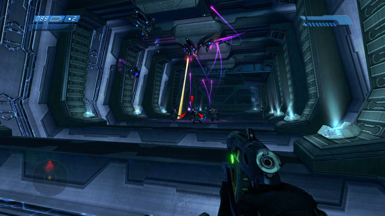 Halo: Combat Evolved Anniversary Xbox 360 Aliens and drones will fight each other so use that to your advantage.
