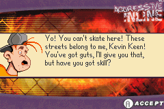 Aggressive Inline Game Boy Advance A small bit of dialogue before the challenge mode starts