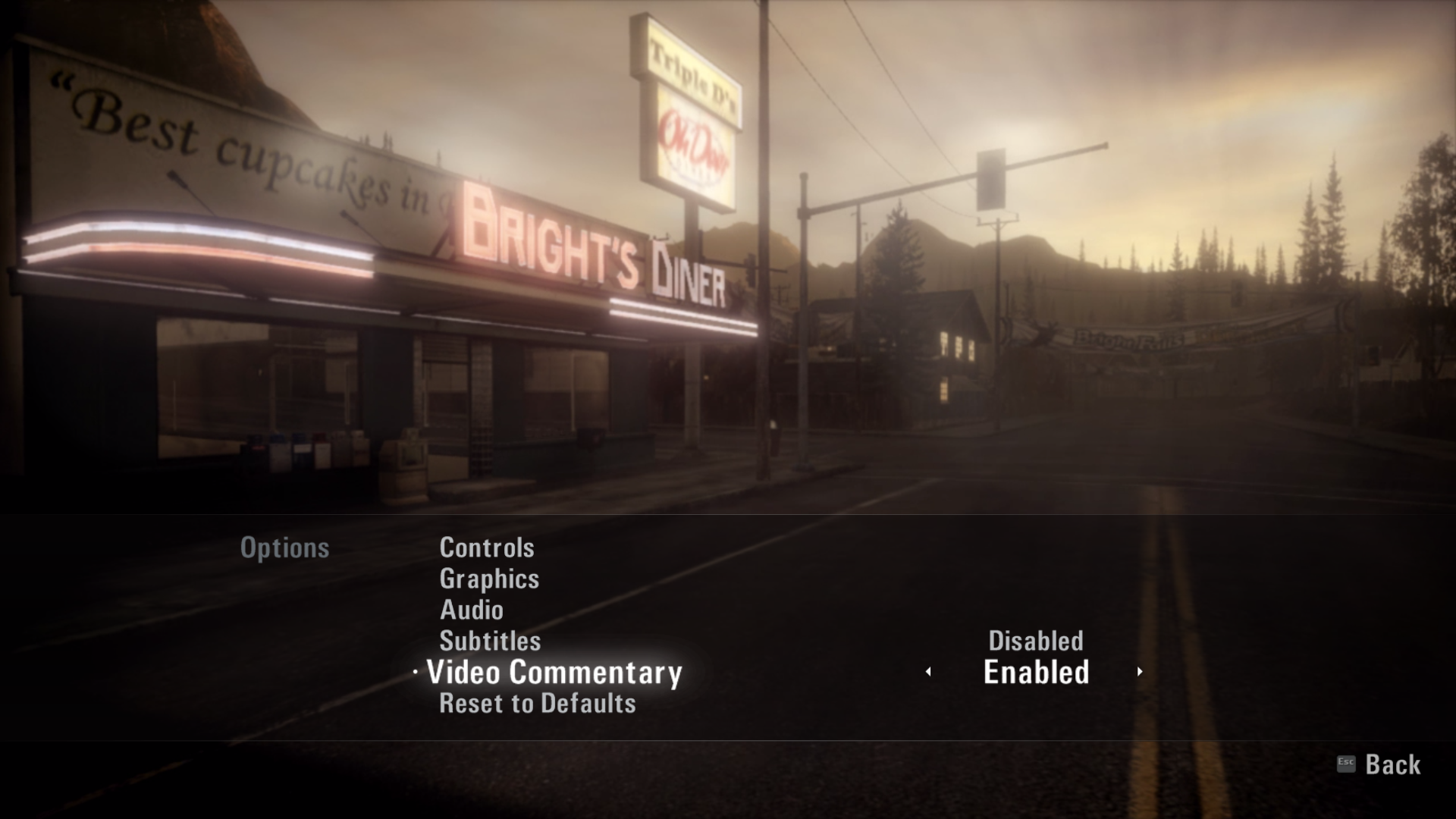 Alan Wake: Collector's Edition Extras Windows The only in-game chance from this DLC: the developer's commentary.