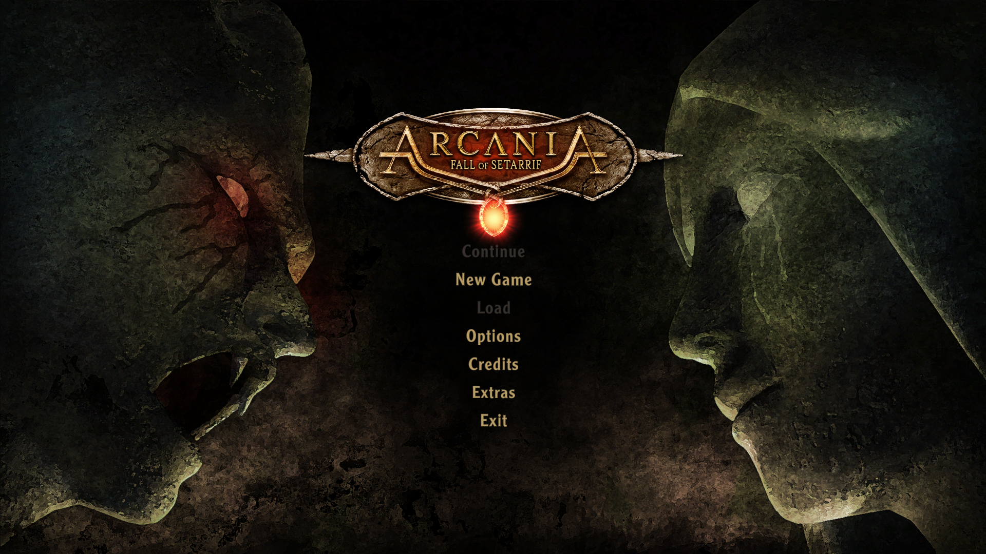 ArcaniA: Fall of Setarrif Windows Main menu